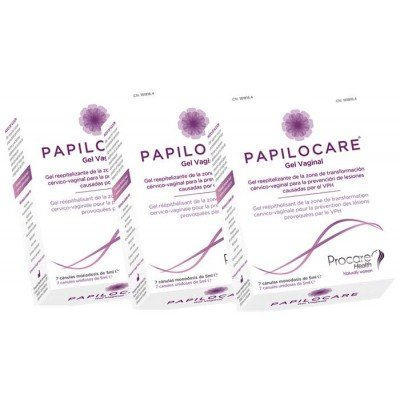 Procare-Health - PACK 3U PAPILOCARE GEL VAGINAL 7 CANULAS 5 ML