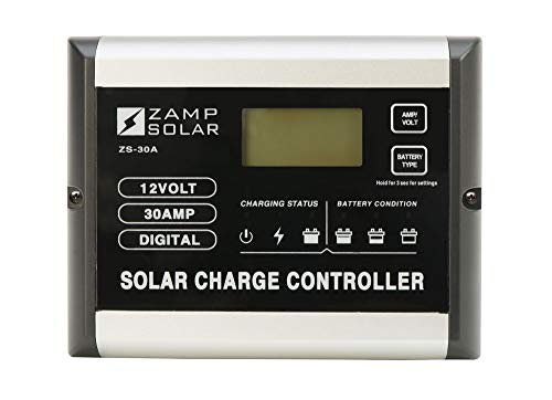 Zamp Solar 30-Amp Solar Charge Controller, Monitor, Regulate and Protect your Batteries