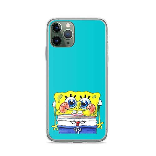 Phone Case Sponge-bob Compatible with iPhone 6 6s 7 8 X XS XR 11 Pro Max SE 2020 Samsung Galaxy Waterproof Funny Drop