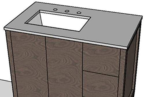 Counter Today's only top for vanity Super-cheap LRS-F-36R with cut-out Bathroom a Sin