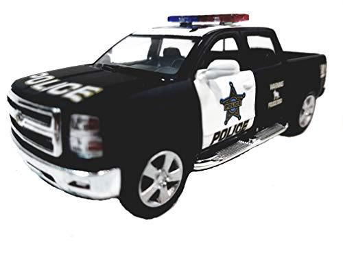 Kinsmart 2014 Silverado K-9 Black & White Special Police Unit Pickup SUV 1/46 Scale Diecast Truck