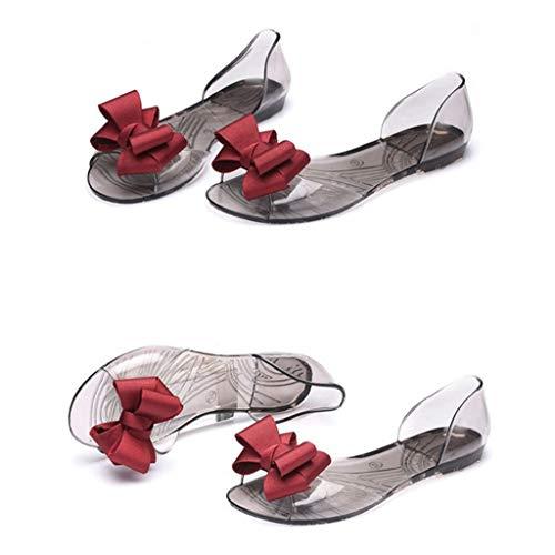DIPOLA Flache Badesandale Sandalen Boho Clip Toe Flip Flop Zehentrenner Schuhe Übergröße Sommerschuhe Strandschuhe Pantoletten