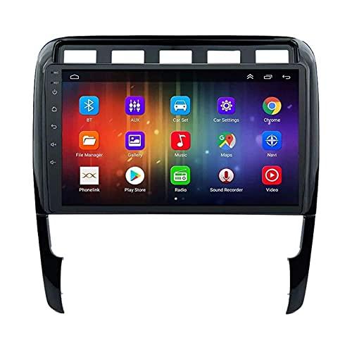ZHANGYY Unidad Principal estéreo con Radio de Coche Android 8.1 de 9 Pulgadas Compatible con Porsche Cayenne 2002-2010, navegación GPS/Bluetooth/FM/RDS/Control del Volante/cámara Trasera