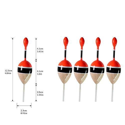 Green Plaid 5pcs / Lot Angelschein Float Bobbers 15g 5g Balsaholz Angeln Schein Float 5 Farben Beleg Bobber Rigs, 5pcs 5g Holz