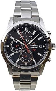 ساعة اورينت كوارتز رياضية بعرض كرونوغراف وسوار من الستانلس ستيل طراز SKU00002B0
