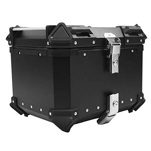 Caja trasera para equipaje superior para ciclomotores para viajes por carretera para viajes de larga distancia para ocultar los viejos arañazos(black)