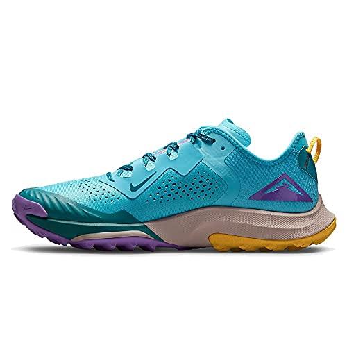 Nike Air Zoom Terra Kiger 7, Scarpe da Corsa Uomo, Turquoise Blue/White-Mystic Teal-Univ Gold-Wild Berry, 44 EU