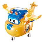 Super Wings - Transforming Construction Donnie Toy Figure, 5' Scale, Yellow