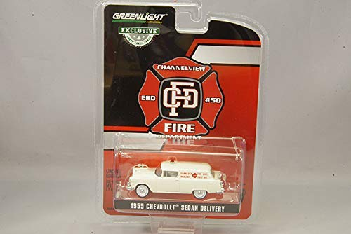 GreenLight 30071 1955 Chevrolet Sedan Delivery - Channelview, Texas Fire Department Volunteer Emergency Car (Hobby Exclusive) 1/64 Scale