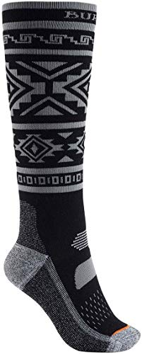 Burton Women's Performance Midweight Sock, True Black, MediumLarge