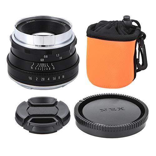 35 mm F1.6-lens met lenstas Spiegelloze cameralens EF-M-vatting EOSM-bevestigingen voor Canon M2 M3 M5 M6 M10 M100 M50 spiegelloze camera(zwart)