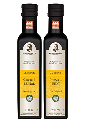 Dr. Budwig Vorratspaket (2 Flaschen Dr. Budwig Omega-3 Leinöl á 250 ml)