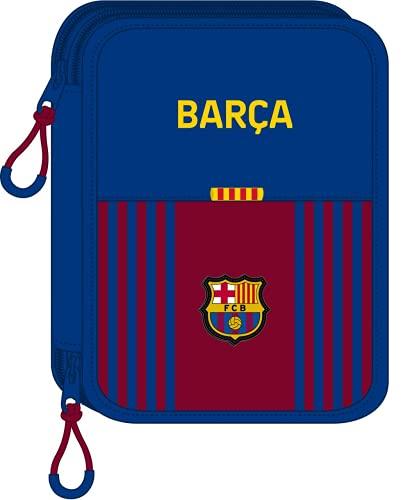 safta Estuche Escolar con 56 Útiles Incluidos de F.C. Barcelona 1ª Equipación 21/22, 195x248x45 mm