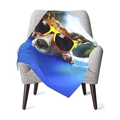 Ahdyr Mantas de recepción para Perros, colchón de Aire Azul en Agua, Manta de bebé refrescante, Forro Polar Suave y cálido, Manta de recepción para recién Nacidos para Cochecito de Cuna de 30 'x 40'