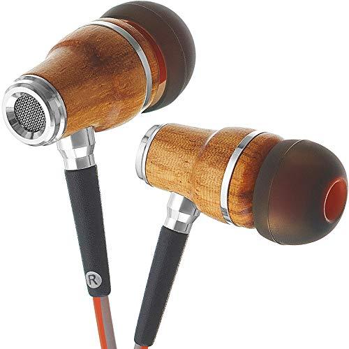 Symphonized NRG 3.0 Auriculares de Mader, con Aislamiento de Ruido, con micrófono y Control de Volumen (Anaranjado Fuego y Gris Brumoso)