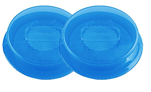 Unbekannt CAPFLEX M, Set de 2 Tapas de Silicona, Color Azul traslúcido
