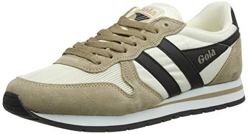 Gola Mens Daytona Sneaker, Off White/Tobacco/Black, 28 EU