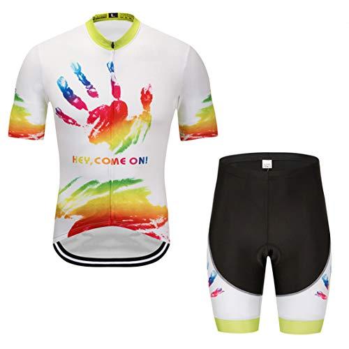 Mikelabo MaillotCiclismo HombreVerano, TrajeCiclismo + CulotteCiclismo MTB Ciclismo 5D Gel Pad para Maillots Tirantes MonoCiclismo Cortos Culotte Pantalones