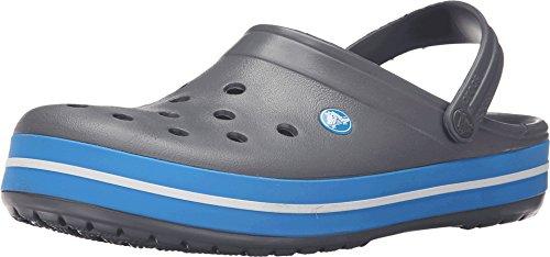 Crocs Crocband Clogs, Ciabatte Unisex-Adulto, Charcoal/Ocean, 42/43 EU