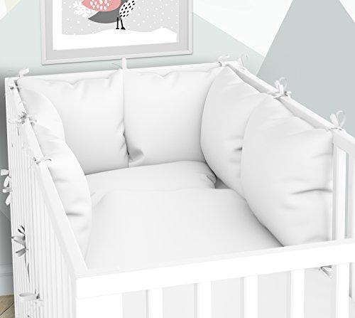 Babybed-linnen en kussensloop - zes kussens met overtrekken voor het babybed 60 x 120 cm