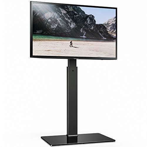 FITUEYES TV Bodenständer TV Standfuß TV Ständer Fernsehstand für 32 bis 65 Zoll LED LCD TV Höhenverstellbar Drehbar TT107501MB