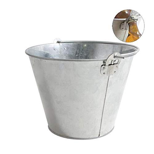 LEYENDAS Cubo metálico 10 litros para Enfriar Cervezas en el jardín. Especial hostelera, abridor Incluido en el Cubo (10 litros)
