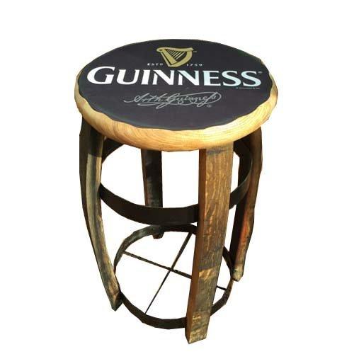 Corpo in legno di quercia massiccio Guinness sgabello da bar