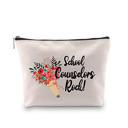 G2TUP School Counselor Accessory Pouch School Counselors Rock Counseling Gift Counselor Appreciation Cosmetic Bag (School Counselors Rock)