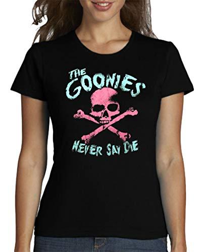 The Fan Tee Camiseta de Mujer Los Goonies Never Die Retro 80 Fratelli 009 M
