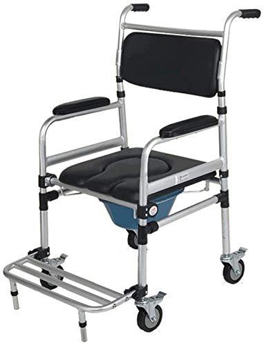 HMMN El Asiento del Asiento del Inodoro de la Silla de Ruedas Multifuncional portátil, Adecuado para Mujeres Embarazadas con discapacidades ancianas