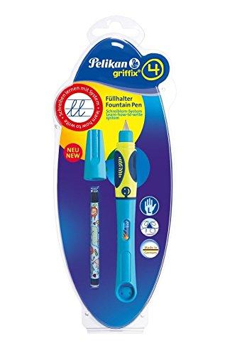Pelikan 809191 Füller Griffix für Linkshänder Neon Blau