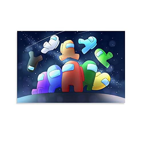Among Us Spacewalk - Póster simple y elegante para niños (40 x 60 cm)