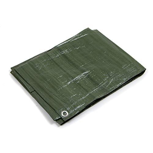 STI Telo OCCHIELLATO 85 gr Verde Blu Impermeabile COPRITUTTO Multiuso Misura 3x3mt