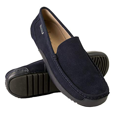 Zerimar Mocasines Hombre | Mocasines Hombre Piel | Mocasines Hombre Cuero | Mocasines Loafer Hombre | Zapatos Hombre Casuales Mocasines | Mocasines Loafer Casuales (Marino*Azul, Numeric_43)