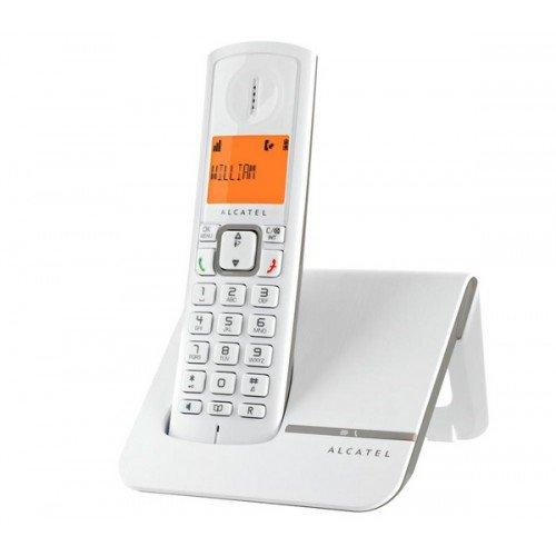 Alcatel Versatis F 230 - Teléfono fijo inalámbrico, blanco/gris [Importado]