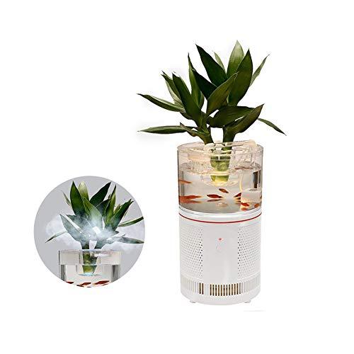 HEPA Desktop Ionisator Luchtreiniger + Aquarium Filter Voor Smoke/Allergieën/Schimmel/Rook/Stof/Huidschilfers Van Huisdieren/VOS