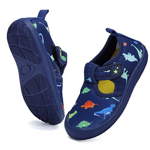 DimaiGlobal Scarpe da Immersione da Mare da Scoglio da Spiaggia Ragazze Ragazzi Scarpe da Nuoto Scarpe da Sport Acquatici Scarpette da Surf Unisex Bambino 29EU Blu Scuro