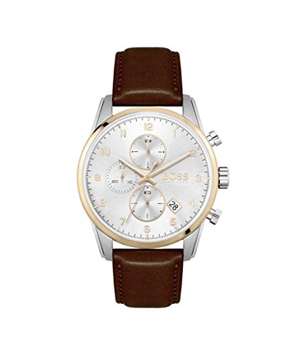Hugo BOSS kwarts horloge met lederen armband 1513786
