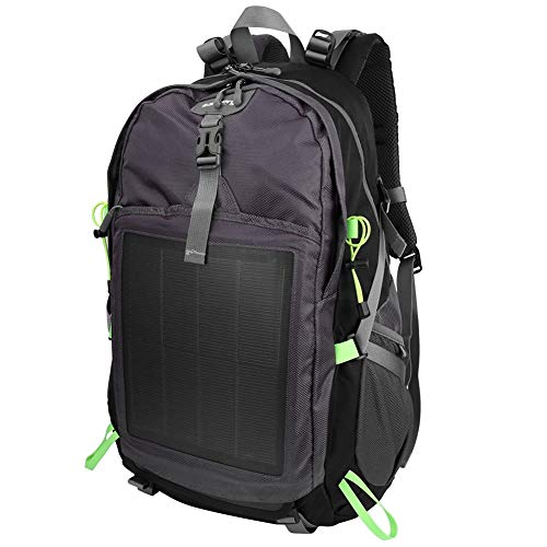 Kays 10.6W Outdoor Solar Travel Backpack Anti-Theft Laptop Tablet Unisex Shoulder Bag For Men Women - Yellow
