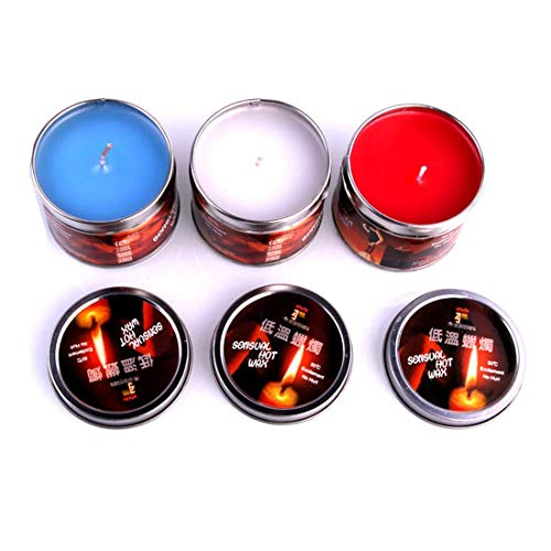 KuTi Kai Low Temperature Candles Wax Dripping Candles Romantic Atmosphere Maker - Birthday Gift(White+Red+Blue)