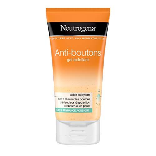 Neutrogena Visibly Clear Gel Exfoliant doux Spot Proof – Soin peau anti-boutons – 1 x tube de 150 ml