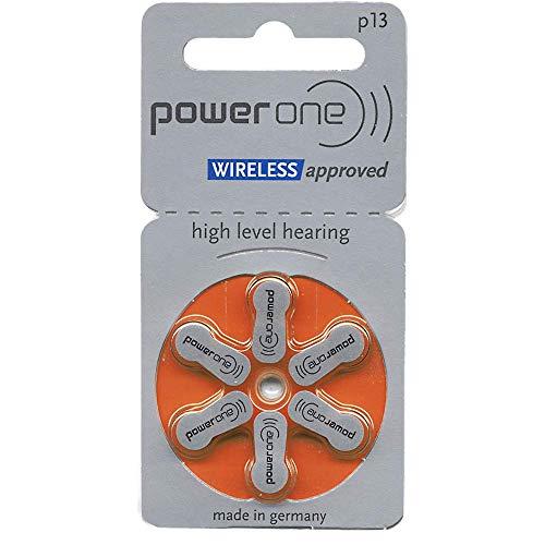 Power One P13 Mercury Free Hearing Aid Batteries (6 Batteries)