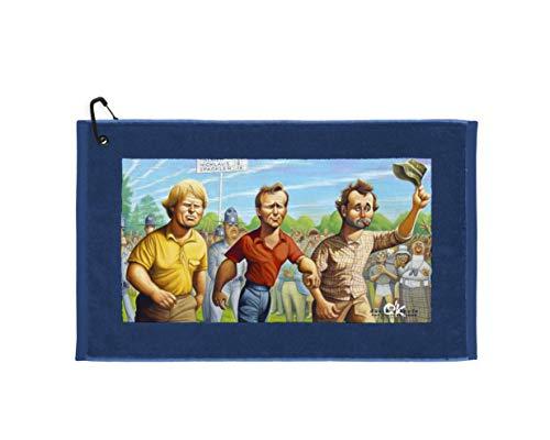 Devant Sport Towels Caddyshack Collection: Carl Spackler, 16' x 25', Blue Edge