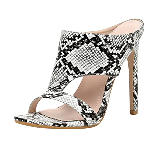 Nihewoo Sandals for Women Dressy Summer Ladies Big Size Sexy Hollow Super High Heel Sandals Shoes Womens Sandals White