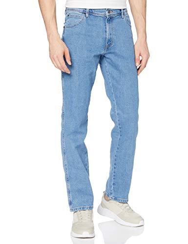 Wrangler Mens Regular FIT Jeans, Light Stone, 34/30