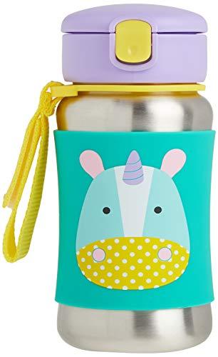 Skip Hop, bottiglia in acciaio inox raffigurante una giraffa, con cannuccia