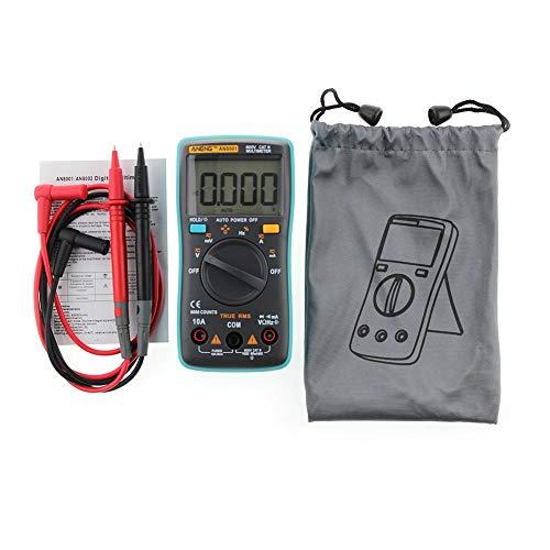 VERLOCO Digital Multimeter, Battery Monitor Voltmeter Ammeter,multimeter Mit Tasche,AC/DC-Strom Mit Batterietester, 6000 Counts Mit Hintergrundbeleuchtung 5.12x2.56x1.18 In