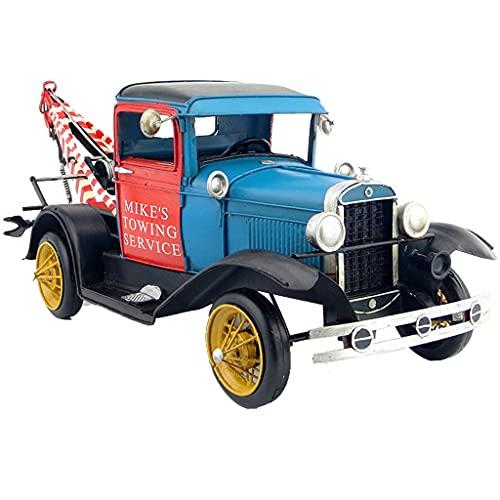 XHAEJ Compatible con Ford Trailer Car Modelo 1931 Retro Fabricado en ingeniería de Hierro Forjado Modelo de camión Modelo Antiguo Crafts Simulación Decoración Regalo