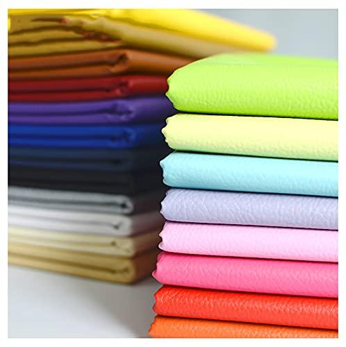 wangk Polipiel for Tapizar Tapicería Material De Artesanía Tela De Grano De Cuero De Imitación Tela De Cuero Sintético PU Polipiel para tapizarTela De Grano De Cuero De IMI(Size:1.4X1m,Color:Plata)