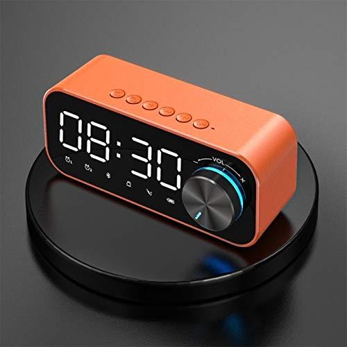 DZHTWSRYGR Wecker Lumie Wecker Bluetooth Lautsprecher Radio Wecker LED Wireless Subwoofer Musik Desktop Clock Portable